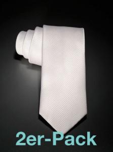 Krawatte Seide Rips im 2er-Pack