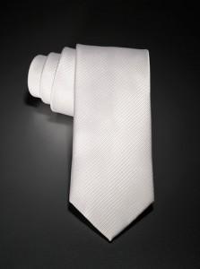 Weiße Seidenkrawatte für Anwälte